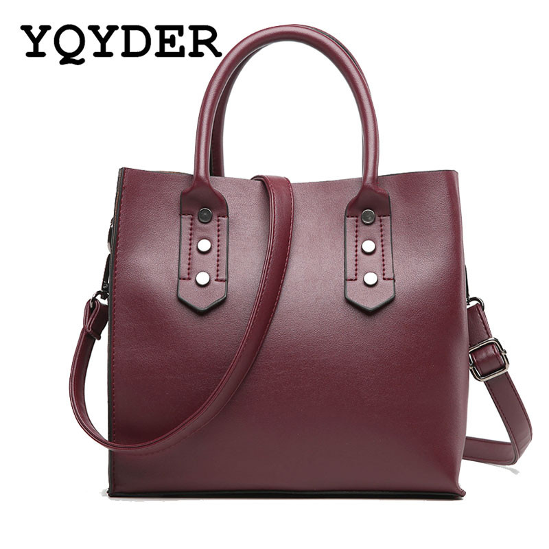 Famous Brand Handbags Women High Quality Leather Shoulder Bag Large Capacity Top-Handle Bags Ladies Big Tote Black Messenger Bag