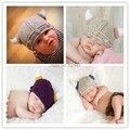2015 nueva ganchillo bebé recién nacido sombrero recién nacido gorros vikingo thor bebé recién nacido sombrero del bebé accesorios de fotografía