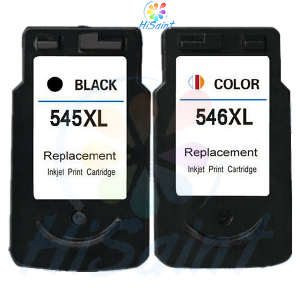 Hisaint 2PK compatible for Canon  ink cartridge PG545 CL546 for Canon PIXMA MG2450 MG2550 MG2950 iP2850 MX495 printer cartridge