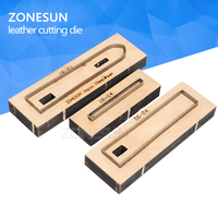 ZONESUN 26 24 Customized leather cutting die Leather DIY Craft supply watchband strap Wooden Template Punching Cutting Mould
