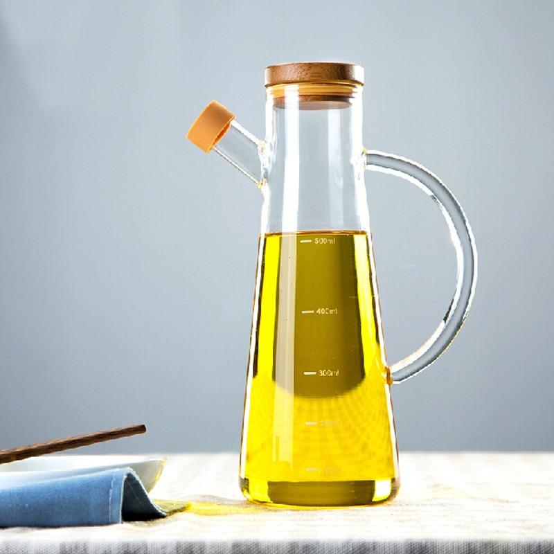 Creative HBG Kitchen/Oil And Vinegar Bottles Sauce Glass Jar Sealed  Multifunction Seasoning Glass Storage Oil Bottle  In Storage Bottles U0026 Jars  From Home ...