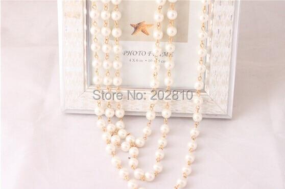 Mada Keturi sezonai dėvėti 3 sluoksnio stulpelio perlų megztinis - Mados papuošalai - Nuotrauka 6
