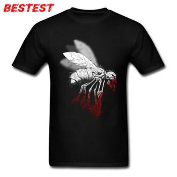 INSECT POLITICS T-shirt Men Tees Skull Fly Summer 100% Cotton O-Neck Youth T Shirt Casual Tops Shirt Fashionable Black TShirt