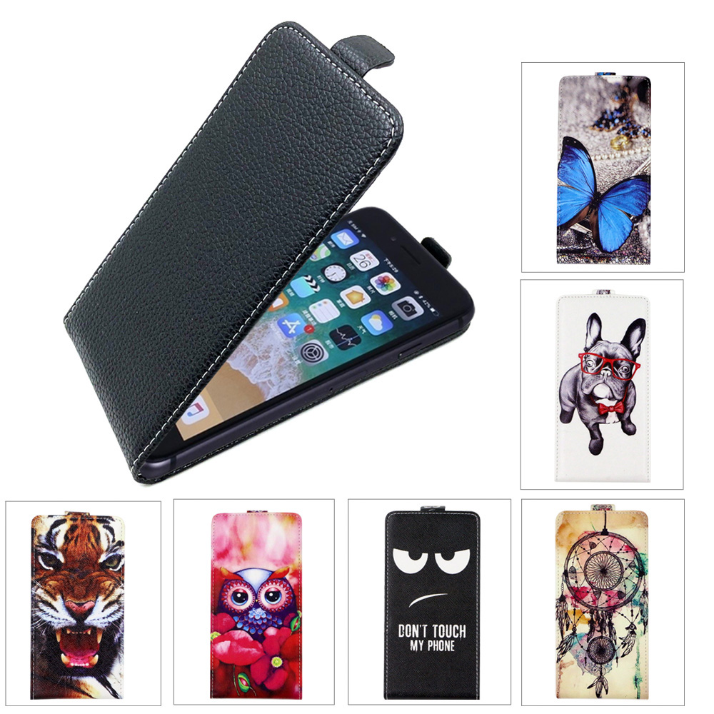 SONCASE case for Fly IQ434 ERA Nano 5 Flip back phone case 100% Special Lovely Cool cartoon pu leather case Cover