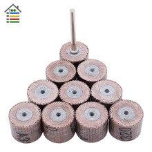 10 adet Mini aşındırıcı aletler flap zımpara zımpara zımpara taşlama Dremel döner kağıt parlatma ağaç İşleme için 80 600 Grit