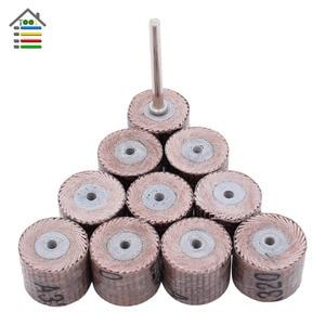 Image 1 - 10PC Mini Abrasive Tools Flap Wheel Sanding Sandpaper Grinding for Dremel Rotary Paper Polishing for Woodworking 80 600 Grit