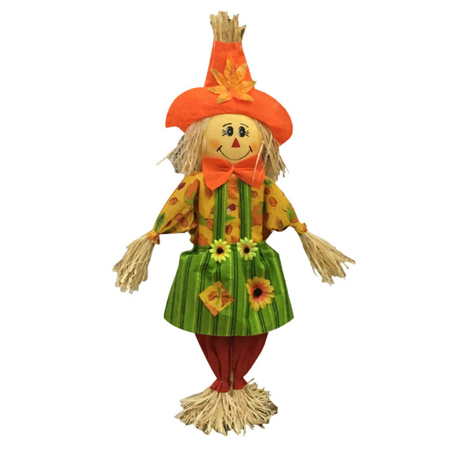 standing cute halloween scarecrow swing ornament scarecrow