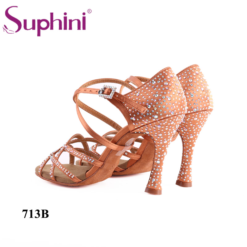Free Shipping Suphini Customized Salsa Dance Shoes Special Lady Ballroom Latin Dance Shoes
