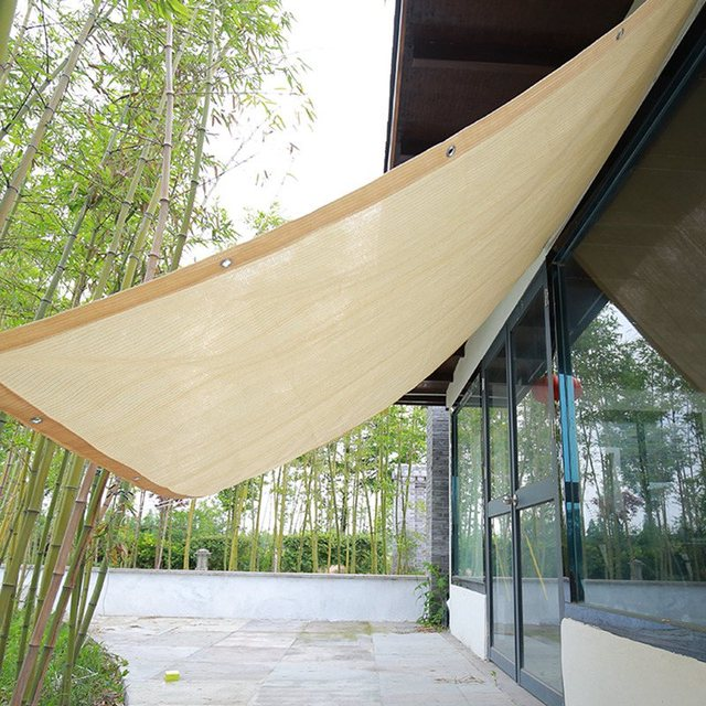 Beige Sun Shade Sail Home Garden Awnings Outdoor Protection Covers Sun Shelter Canopy Square Patio Glass House Customized Size 1