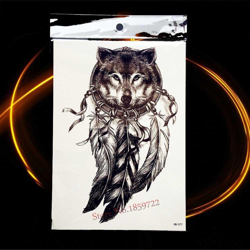 1PC 3D Oude Klok Body Art Arm Mouw Flash Fake Tattoo Sticker Voor Mannen Arm Mouw Zwarte Dood Waterdichte nordic Tattoo Body Art