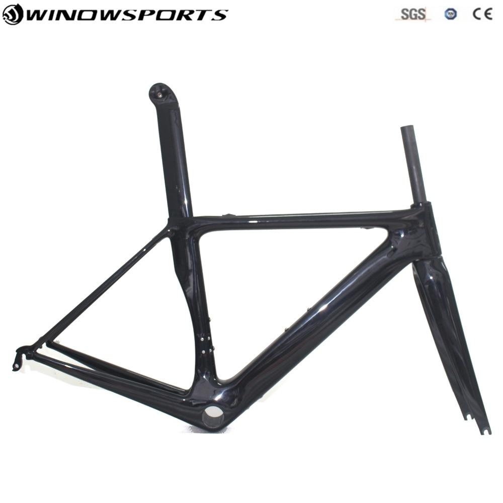 2018 Aero Carbon Road Frameset Cadre Carbone Carbon Road Bike Frame+Fork+Seatpost UD Carbon Bicycle Frameset