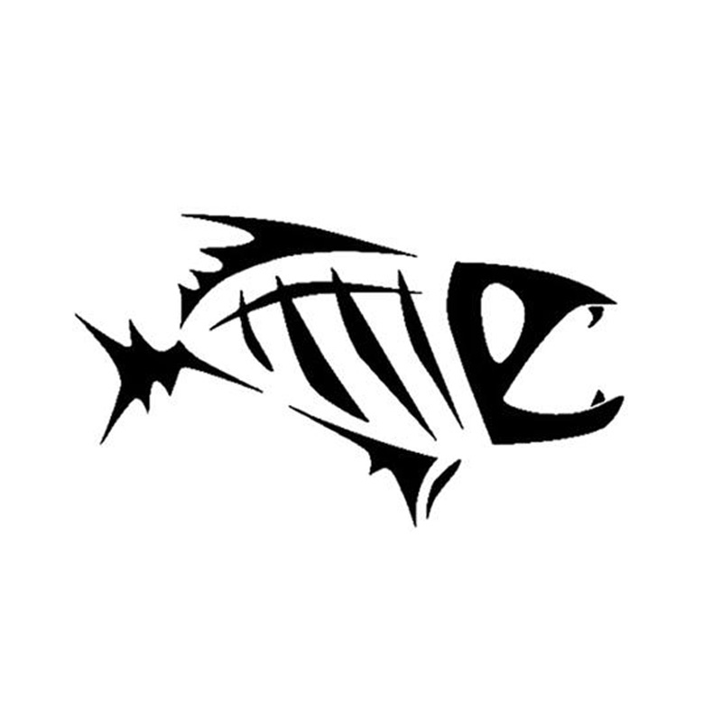 Online buy wholesale skeleton fish decals from china for Fish skeleton decal