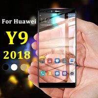 Vidrio protector para Huawei Y 9 2018, película de vidrio templado de seguridad para Huawei Y9 2018 9Y, honor Huawey Huawai Huavie