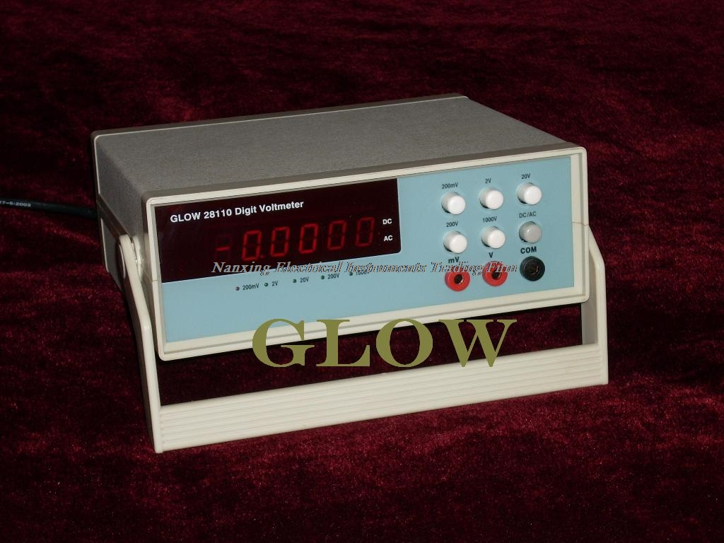 Fast arrival GLOW28110 Digit 4 1/2 AC and DC true RMS digital voltmeter 200mV(0.2V) 2V 20V 200V 1000V