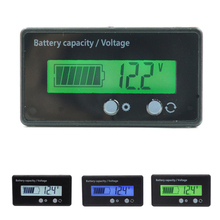 LCD Voltmeter Meter Battery Capacity Tester Lithium Battery Capacity Indicator Monitor Voltage Tester 6-63V th01 liquid crystal lithium battery 12v24v indicator display residual capacity detection