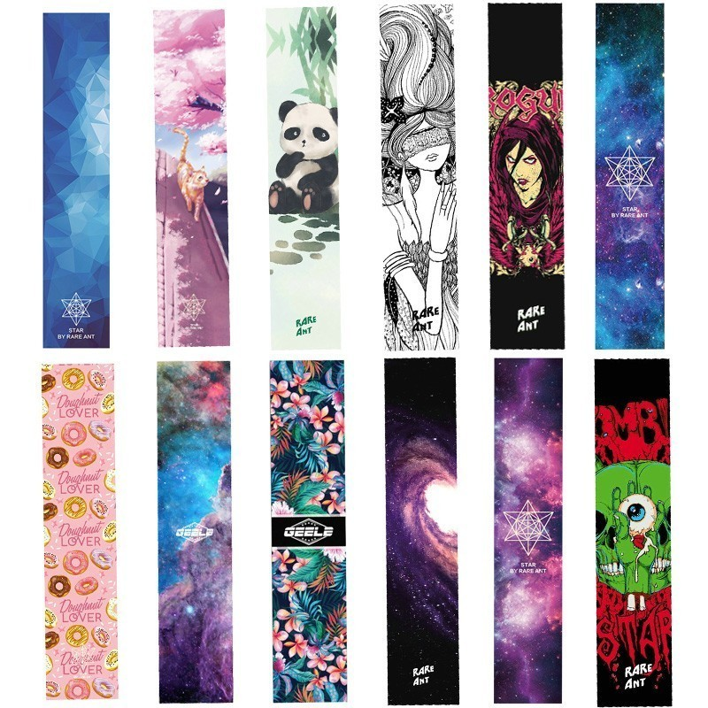 New Design 1pcs 26*122cm Disruptive Pattern Bear Skate Griptape Hard-Wearing Skateboard Sandpaper For Street Skateboard Deck