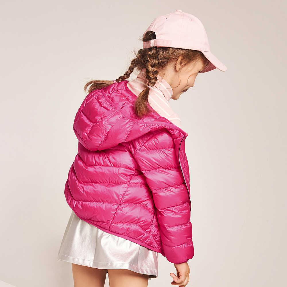 Balabala/зимняя куртка для девочек и мальчиков, модная детская куртка на утином пуху плотная одежда для детей на 20 градусов ниже нуля