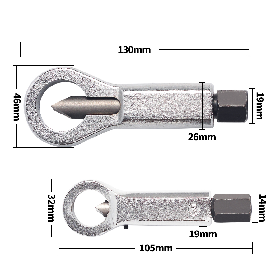 Einstellbare 1/2 ''-5/8'' Mutter Splitter Cracker 12-16mm Mutter Remover Extractor-Tool