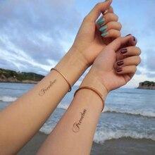 Горячая Распродажа, водостойкая временная татуировка, наклейка с буквами, татуировка с водной передачей, поддельная татуировка, флеш-тату для унисекс