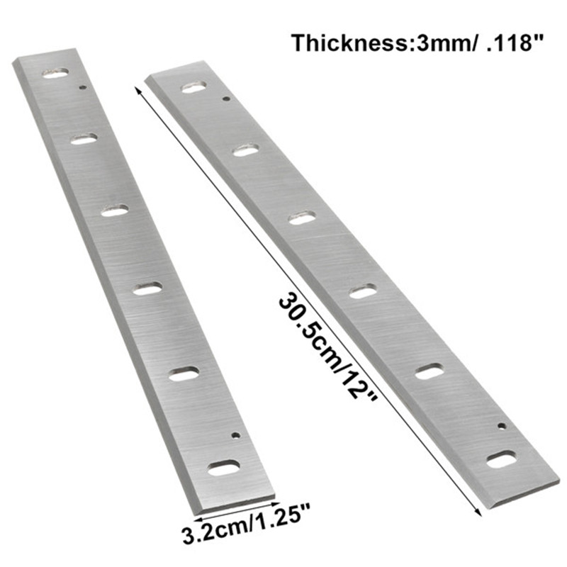 2Pcs 12'' 305x32x3mm HSS Planer Knife Blades For Makita 2012NB Wood Thicknesser Planer Woodworking Power Tool Parts