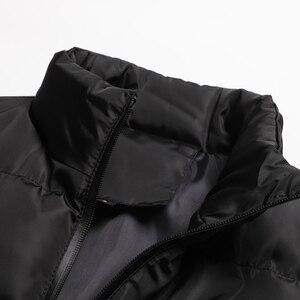 Image 3 - Wordless แขนกุดเสื้อกั๊กเสื้อแจ็คเก็ต Outwear บุรุษผ้าฝ้ายเสื้อกั๊ก Coat Thicken Waistcoat ชายฤดูหนาวเสื้อกั๊กผู้ชาย GILET Homme 6XL