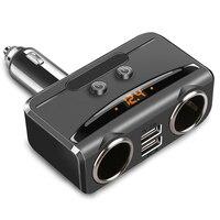 Cigarette 2 Façons de Voiture Allume Adaptateur Splitter Socket DC 12V3. 1A Double USB Chargeur avec Affichage de la Tension Pour iPhone HTC