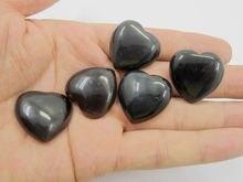 Высокое качество Радужный обсидиан 25 мм камень в форме сердца