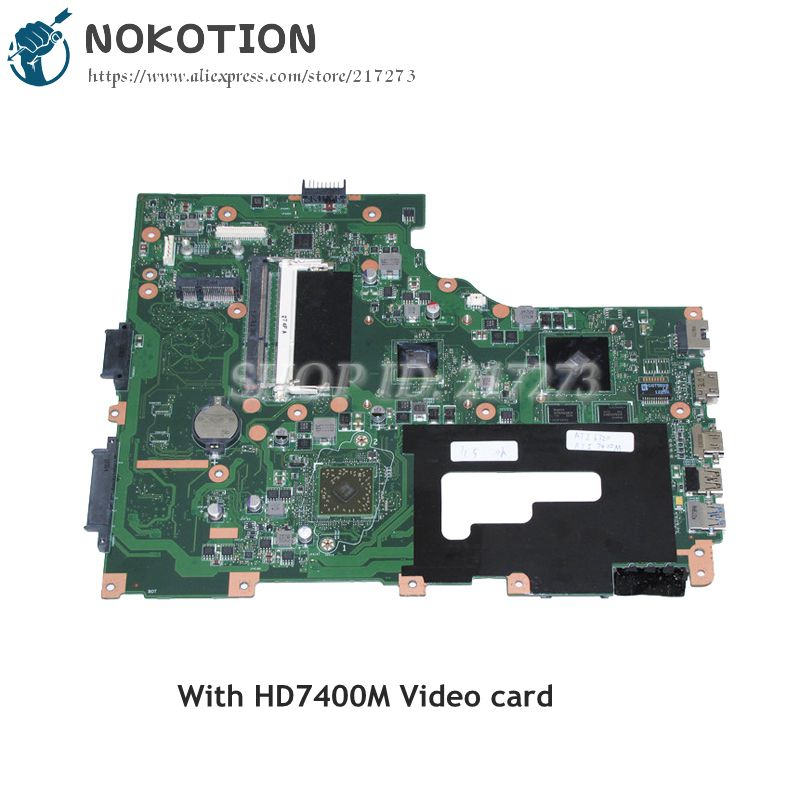 NOKOTION EG70BZ MAIN BOARD For Gateway NE71B Laptop Motherboard NBC1L11001 NB.C1L11.001 HD7400M Video card DDR3 684323 001 main board fit for hp elitebook 8560p laptop motherboard qm67 ddr3 with hd7400m video card