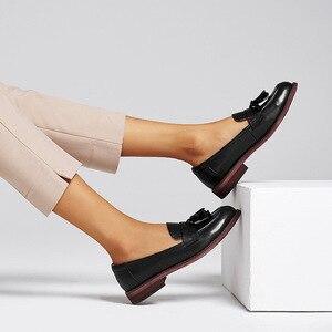 Image 2 - BeauToday – Mocassins à bout pointu en cuir véritable pour femme, chaussures en grandes tailles, chaussures à enfiler, peau de mouton, chaussures plates et décontractées, fait à la main, 27075