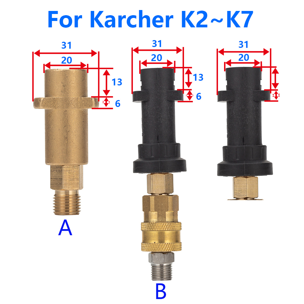 Image 5 - Пенообразователь высокого давления/латунные, медные, бронзовые пенопластовые опрыскиватели для Karcher K1 K2 K3 K4 K5 K6 K7 Автомойка высокого давления-in Водяные пистолеты и брандспойт для пены from Автомобили и мотоциклы