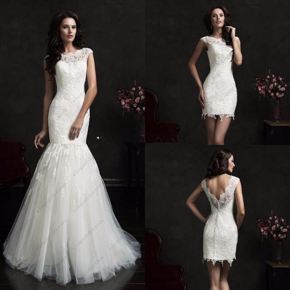 Buy illusion scalloped neck mermaid for Where to buy yasmine yeya wedding dresses