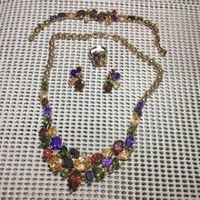 Rose Gold Crystal Rhinestone Faux Earrings Necklace bracelet earrings for women dubai jewelry Set Wedding Party New Arrival