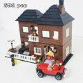 Kits de edificio modelo compatible con lego ciudad nueva casa de huéspedes 3D modelo de construcción bloques Educativos juguetes y pasatiempos para niños