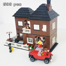 Model building kits compatible with lego new city rooming house 3D blocks Educational model building toys hobbies for children