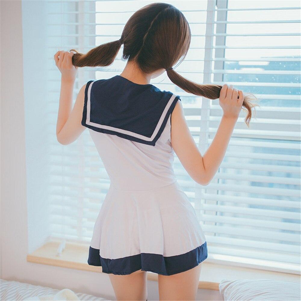 Image 5 - Japan/Korean School Uniforms Sexy Cute Women/Girl Sailor Suit JK Student Clothing Sets dress+Panties One sizeHolidays Costumes   -