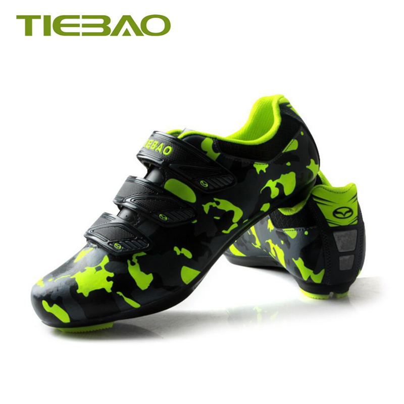 Купить с кэшбэком Tiebao Professional cycling shoes SPD-SL pedals cheap road shoes sapatilha ciclismo breathable sneakers bicycle riding shoes