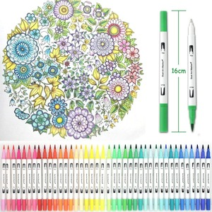 Image 5 - brush marker set for Art Supplies 48/60/100/120 Colors Soft Brush Marker For Drawing Painting Set  Watercolors Pen for School