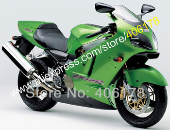 Green Black Fairings For Ninja ZX-12R ZX 12R 2000 2001 ZX12R 00 01 ZX-12R ABS Fairing (Injection molding)