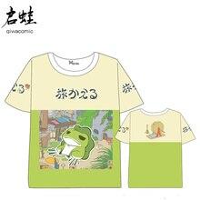 Anime  Travelling Frogs T-shirt Men Women Short Sleeve Summer dress Cartoon t shirt