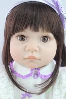 55cm Bebe Reborn Girl Soft Silicone Reborn Dolls Big Eyes Baby Realistic Doll Reborn Vinyl Boneca with Cloth Body for Girls Toy