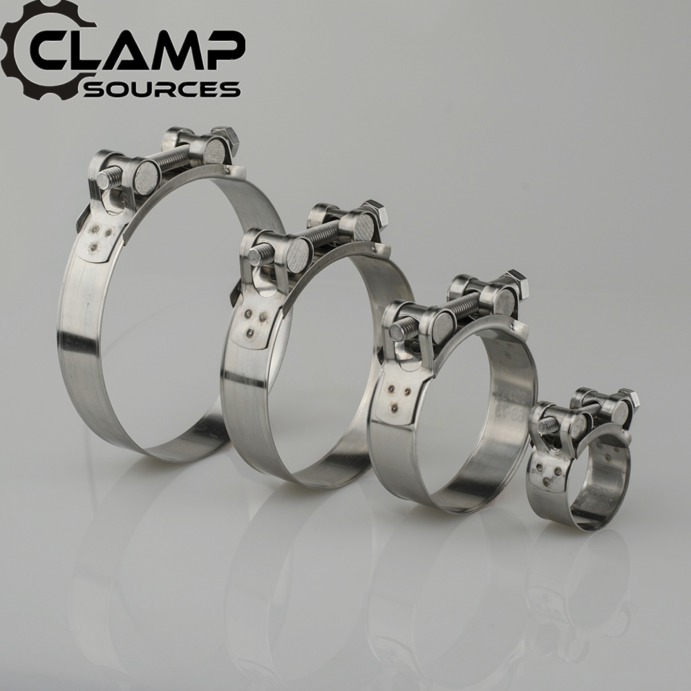 2 3 Universal 304 Stainless Steel Car Motocycle Muffler Silencer Clamp  Hose Silicone Exhaust Band Pipe Clamp Clip 17-79mm