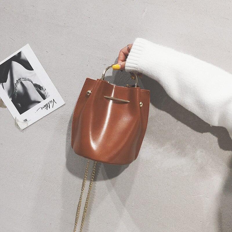 Ladies Girls Crossbody Bag Chain Trendy Small Shopping Female Handbag Women PU Leather Shoulder Bag Satchels Handbag Messenger