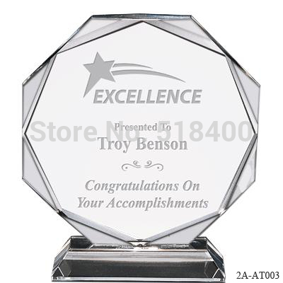 High Quality Hot Selling New Design Stock Crystal Plaque Award Crystal Octagon Trophy In Stock Trophy Truggy Octagon Yellowtrophy Custom Aliexpress