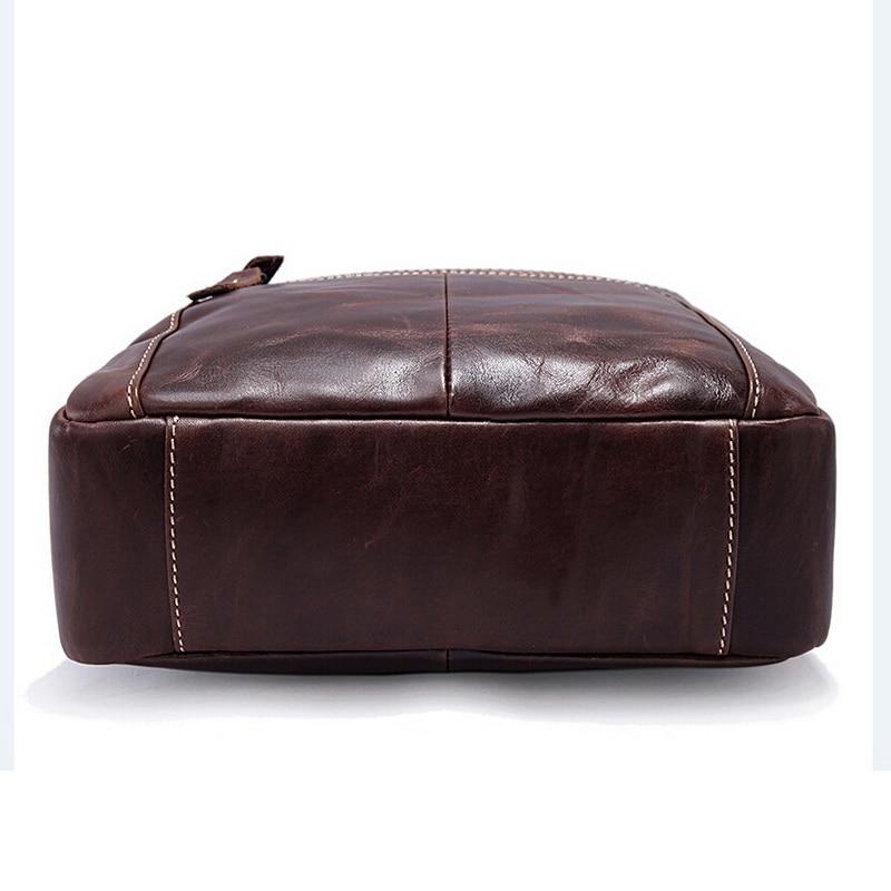 bolsos hombre homens bolsa de Main Material : Cowhide Genuine Leather Crossbody Bag