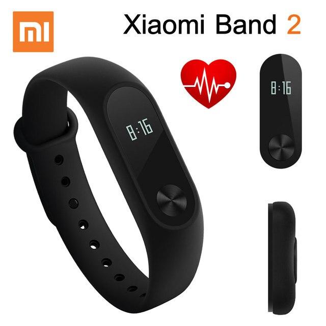 ต้นฉบับxiaomi miวง2สมาร์ทสร้อยข้อมือสายรัดข้อมือmiband 2ติดตามการออกกำลังกายandroidสร้อยข้อมือs martband h eart rate monitor