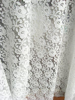 Blanco stretch Encaje Telas, elástico Encaje Telas, bordado floral retro Encaje, 5 yarda mf152