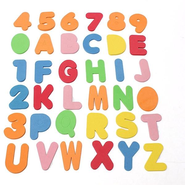 36PCS Alphanumeric Letters/33pcs Russian alphabet Bath Puzzle Soft ...