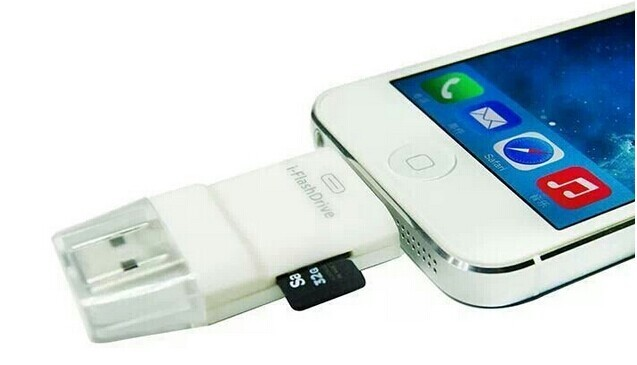 2016 hot 10 pçs/lote i-unidade flash usb leitor de cartão sd tf para iphone 5 5s 6 6 mais ipad 4 5 6 mini 2 3 air air 2 ipod touch 5