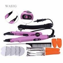 Profesjonalne narzędzie do przedłużania włosów Loof Fusion żelazne narzędzie Pre Bonded keratyna regulowane złącze temperatury Wand Iron Full Tool Kit