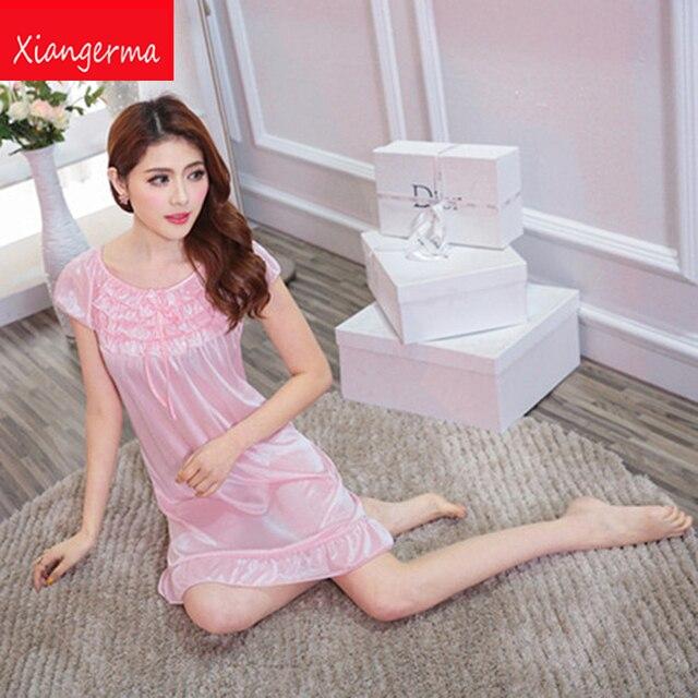 Camisón atractivo de Las Mujeres del vestido sexy vestido de falda de Seda de Hielo Sexy Ropa Interior erótica ropa de Dormir pijama Onesies envío libre Femenino